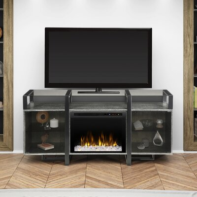 Milo 67 TV Stand with Fireplace Firebox Type: Acrylic Ice (XHD)