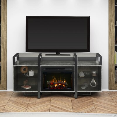 Milo 67 TV Stand with Fireplace Firebox Type: Realogs