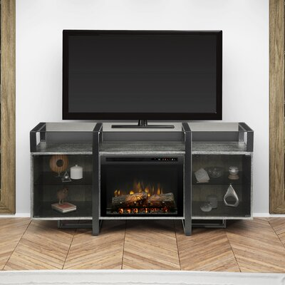 Milo 67 TV Stand with Fireplace Firebox Type: Realogs (XHD)