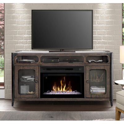 60 TV Stand with Fireplace Firebox Type: Acrylic Ice