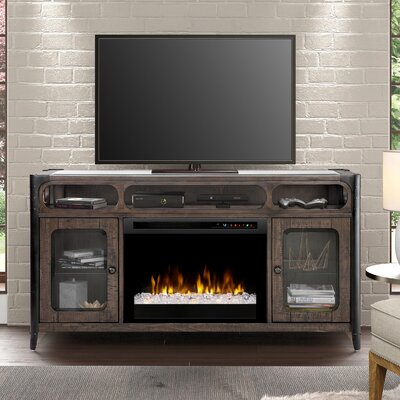 60 TV Stand with Fireplace Firebox Type: Acrylic Ice (XHD)