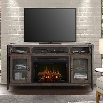 60 TV Stand with Fireplace Firebox Type: Realogs