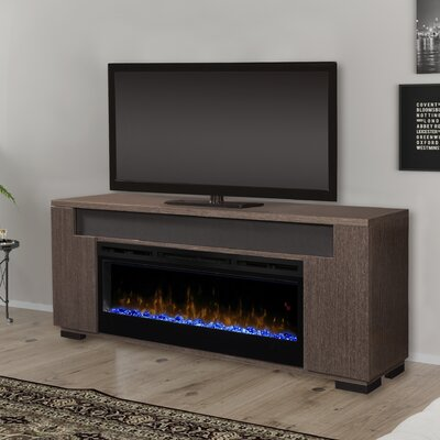 Soundbar Firebox 76 TV Stand with Fireplace Color: White, Firebox Type: Synergy Linear Electric Fireplace