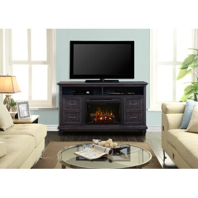 Solomon 62 TV Stand with Fireplace