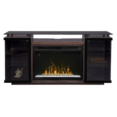 Aiden 72 TV Stand with Fireplace Firebox: Acrylic Ice