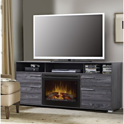 Sander 66.5 TV Stand with Fireplace Insert Style: Realogs