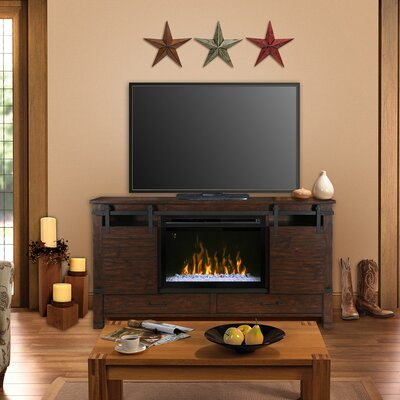 Austin 77 TV Stand with Fireplace Insert Style: Acrylic Ice