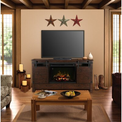 Austin 77 TV Stand with Fireplace Insert Style: Realogs
