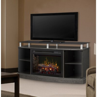 Windham 53 TV Stand with Fireplace Firebox: Realogs, Finish: Silver Charcoal