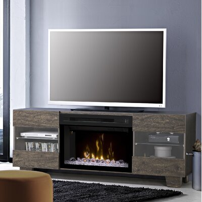Max 62 TV Stand with Fireplace Insert Style: Acrylic Ice