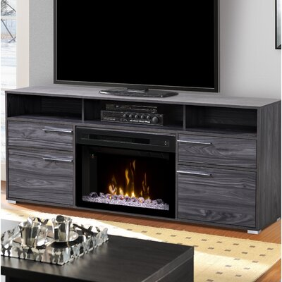 Sander 66 TV Stand with Fireplace Insert Style: Acrylic Ice