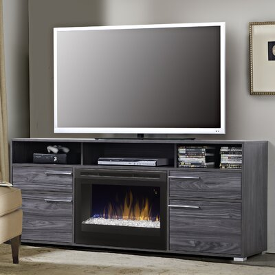 Sander 66.5 TV Stand with Fireplace Insert Style: Acrylic Ice