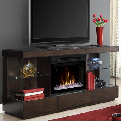 Camilla 72 TV Stand with Fireplace Insert Style: Acrylic Ice