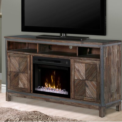 Wyatt 64 TV Stand with Fireplace Insert Style: Acrylic Ice
