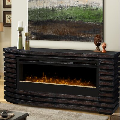 Elliot 70 TV Stand with Fireplace Insert Style: Tumbled Glass Ember