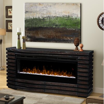 Elliot 70 TV Stand with Fireplace Insert Style: Acrylic Ice