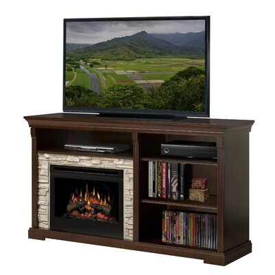 "Dimplex Edgewood 65"" TV Stand with Electric Log Fireplace at Sears.com"