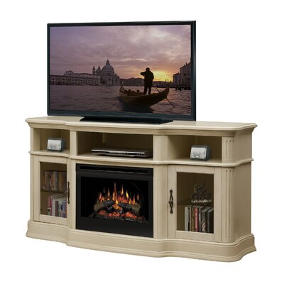 Dimplex Portobello TV Stand with Electric Log Fireplace - Finish: Parchment at Sears.com