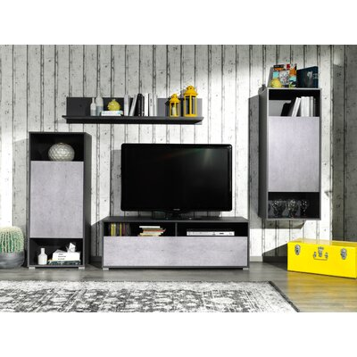Rossi Wall Unit 51 Entertainment Center Color: GRAPHIT/CONCRETE OPTIK