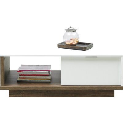 Aryana Coffee Table Color: White/Stirling Oak