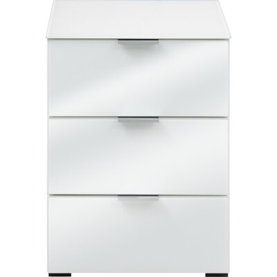 Helms 3 Drawer Nightstand Color: White