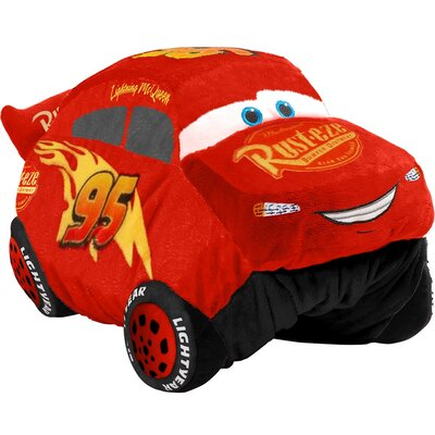 Disney Cars Lightning McQueen Plush Chenille Throw Pillow
