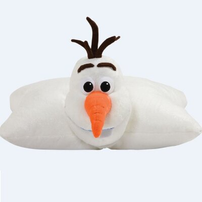Disney Frozen Olaf Plush Chenille Throw Pillow