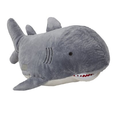 Discovery Channel Shark Plush Chenille Throw Pillow