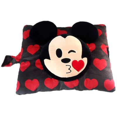 Disney Mickey Emoji Plush Chenille Throw Pillow