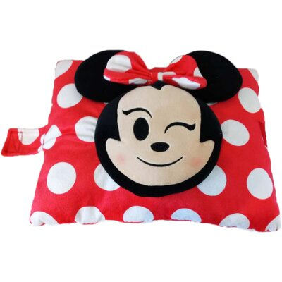 Disney Classic Minnie Emoji Plush Chenille Throw Pillow