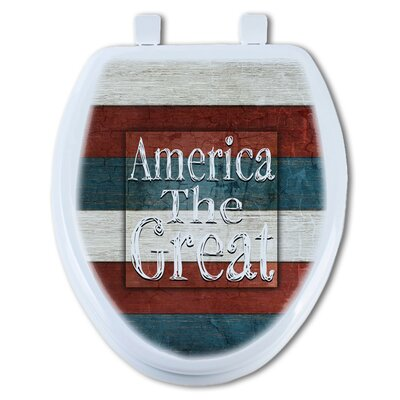 America the Great Round Toilet Seat