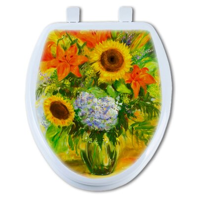 Bright Flower Round Toilet Seat