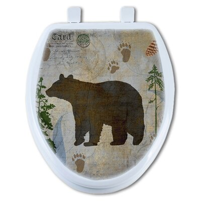 Bear Lodge Elongated Toilet Seat