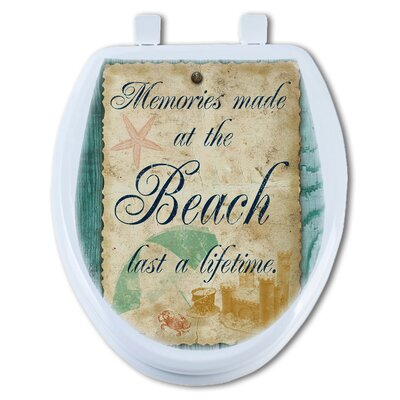 Beach Notes Round Toilet Seat