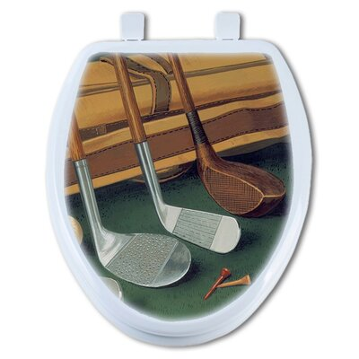 Golf Clubs Elongated Toilet Seat
