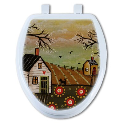 Country Flowers Round Toilet Seat