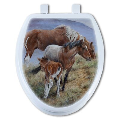 Family Ties Mustang Round Toilet Seat