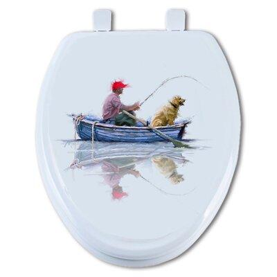 Fishin with Mac Round Toilet Seat