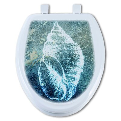 Hello Beach Shell Round Toilet Seat