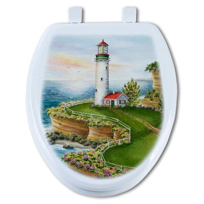 Lighthouse Sunset Elongated Toilet Seat