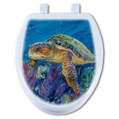 Loggerhead Turtle Elongated Toilet Seat