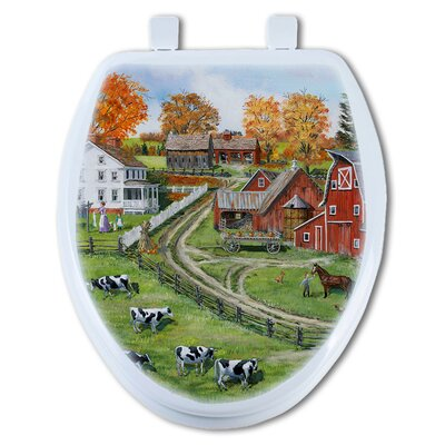 Our Dairy Farm Elongated Toilet Seat