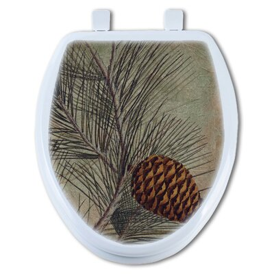 Pine Cone Elongated Toilet Seat