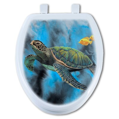 Riding the Tide Elongated Toilet Seat