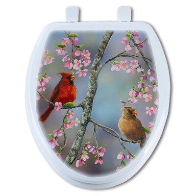 Spring Cardinal Round Toilet Seat