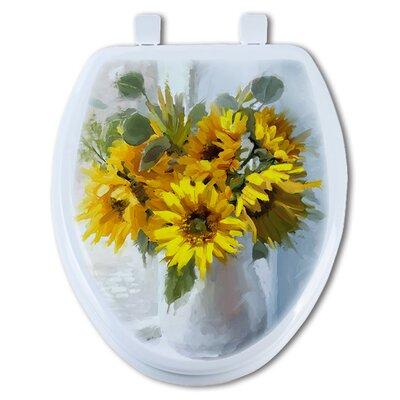 Sunflower Elongated Toilet Seat