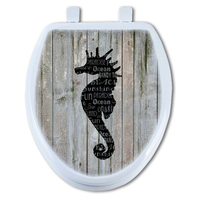 Sea Horse Henry Elongated Toilet Seat