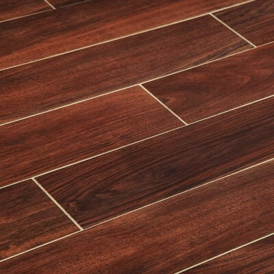 6 x 36 Porcelain Wood Look Tile in Cherry