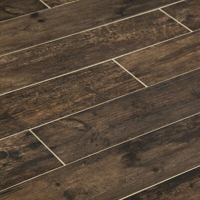 Chalet 6 x 36 Porcelain Wood Look Tile in Wenge
