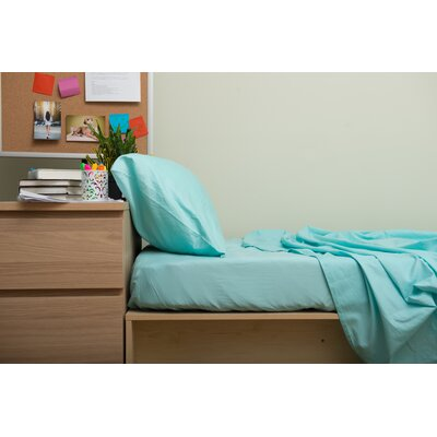 Dade 200 Thread Count Flannel Sheet Set Color: Limpet Shell Green